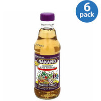 Nakano Roasted Garlic Seasoned Rice Vinegar, 12 fl oz, (Pack of 6)