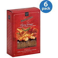 Salem Baking Co. Spicy Ginger Moravian Cookies with Brown Sugar & Cinnamon, 5 oz, (Pack of 6)