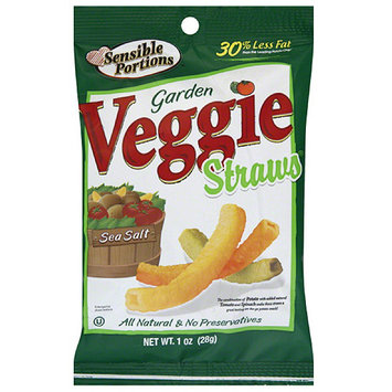 Sensible Portions Sea Salt Garden Veggie Straws, 1 oz, (Pack of 24)