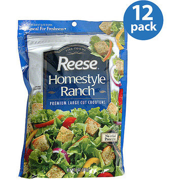 Reese Homestyle Ranch Premium Large Cut Croutons, 5 oz, (Pack of 12)