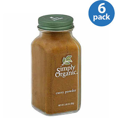 Simply Organic Curry Powder, 3 oz, (Pack of 6)