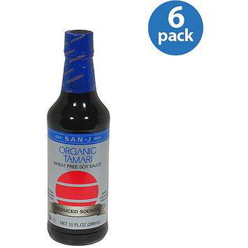 San-J Organic Tamari Wheat Free Soy Sauce, 10 fl oz, (Pack of 6)