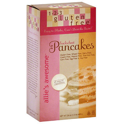 1-2-3 Gluten Free Allie's Awesome Buckwheat Pancake Mix, 24 oz (Pack of 6)
