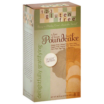 1-2-3 Gluten Free Delightfully Gratifying Poundcake Mix, 38.72 oz (Pack of 6)
