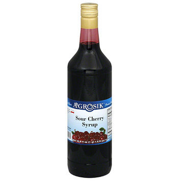 A-GROSIK Sour Cherry Syrup, 33.8 oz (Pack of 6)