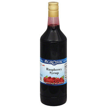 A-GROSIK Raspberry Syrup, 33.8 fl oz, (Pack of 6)