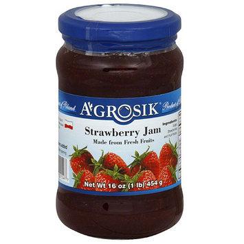 A-GROSIK Strawberry Jam, 16 oz, (Pack of 6)