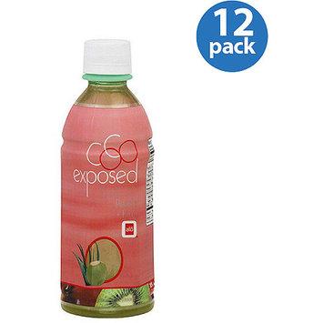 Alo Coco Exposed Peach Kiwi Coconut Water & Aloe Vera Drink, 11.8 fl oz, (Pack of 12)