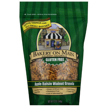 Bakery on Main Gourmet Naturals Gluten Free Apple Raisin Walnut Granola, 12 oz, (Pack of 6)