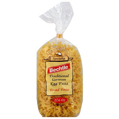 Bechtle Broad Noodles Egg Pasta, 17.6 oz, (Pack of 12)