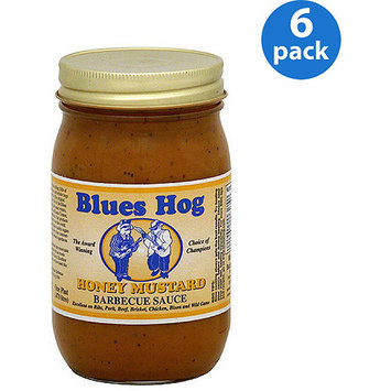 Blues Hog Honey Mustard Barbeque Sauce, 16 oz, (Pack of 6)