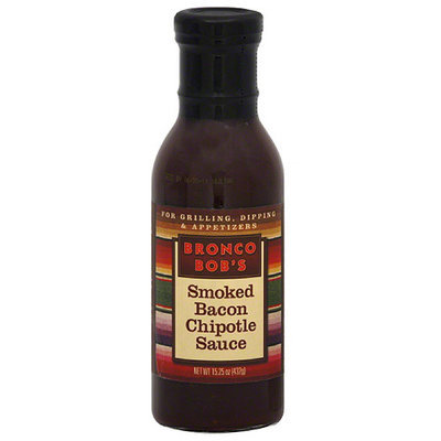 Bronco Bob's Smoked Chipotle Bacon Sauce, 15.25 oz (Pack of 6)