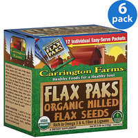 Carrington Farms Organic Milled Flax Seeds, 1.25 oz, (Pack of 6)
