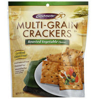 Crunchmaster Multi-Grain Roasted Vegetable Crackers, 4.5 oz, (Pack of 12)