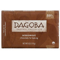 Dagoba Semisweet Baking Chocolate, 6 oz, (Pack of 10)