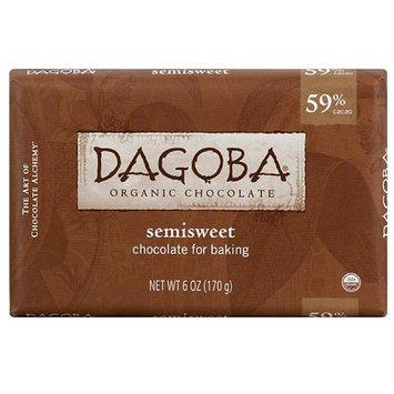 Dagoba Semisweet Baking Chocolate, 6 oz, (Pack of 10)