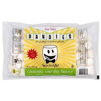 Dandies Air-Puffed Classic Vanilla Flavor Marshmallows, 10 oz, (Pack of 12)