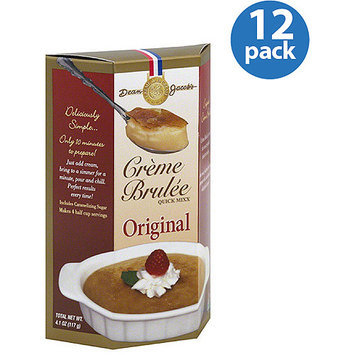 Dean Jacob's Original Creme Brulee Quick Mixx, 4.1 oz, (Pack of 12)