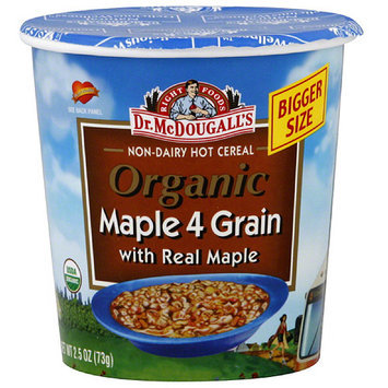 Dr. McDougall's Right Foods Maple 4 Grain Oatmeal with Real Maple, 2.5 oz (Pack of 6)