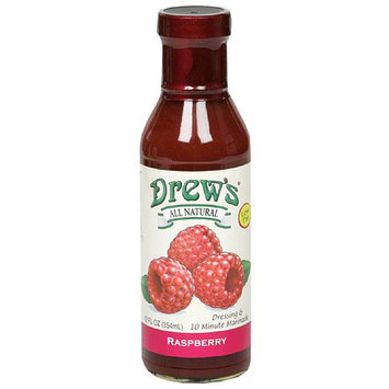 Drews All Natural Drew's All Natural Raspberry Dressing & , 10 Minute Marinade, 12 fl oz, (Pack of 6)