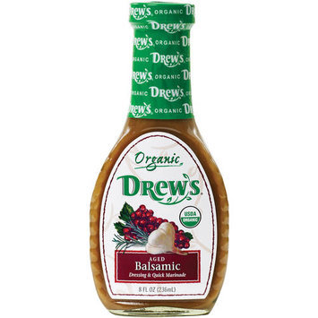 Drews All Natural Drew's Organic Aged Balsamic Dressing & Quick Marinade, 8 fl oz, (Pack of 6)