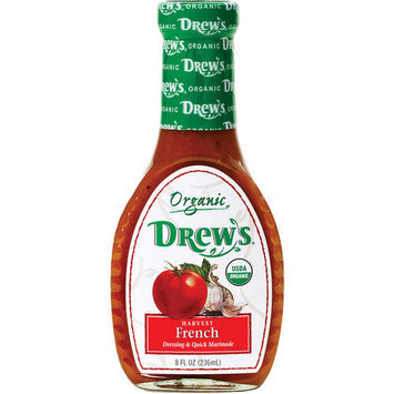 Drew's Organic Harvest French Dressing & Marinade, 8 fl oz, (Pack of 6)