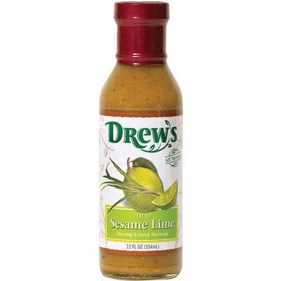Drew's Thai Sesame Lime Quick Marinade Dressing, 12 fl oz, (Pack of 6)