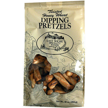 East Shore Specialty Foods Twisted Honey Wheat Dipping Pretzels, 10 oz, (Pack of 12)