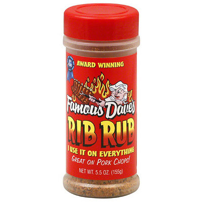 Famous Dave's Rib Rub, 5.5 oz, (Pack of 12)