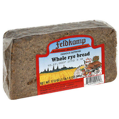 Feldkamp German Whole Rye Bread, 16.75 oz, (Pack of 12)