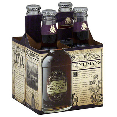 Fentimans Dandelion & Burdock Botanical Drinks, 9.3 fl oz, 4 count, (Pack of 6)