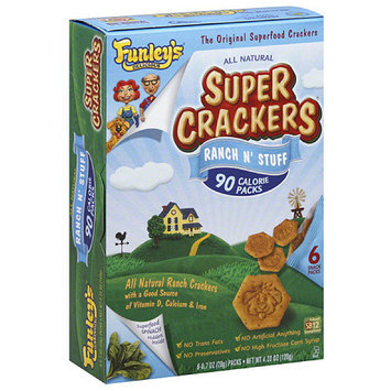 Funley's Delicious All Natural Ranch N' Stuff Super Crackers, 0.7 oz, 6 count, (Pack of 6)