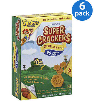 Funley's Delicious Cornbread N Stuff Super Crackers, 4.23 oz, 6 count, (Pack of 6)
