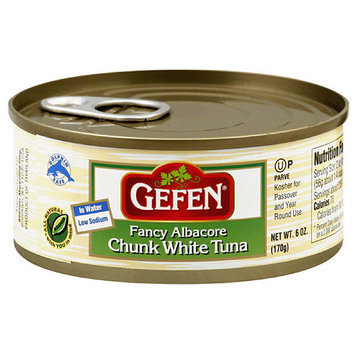Gefen Fancy Chunk White Albacore Tuna in Water, 6 oz, (Pack of 48)