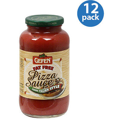 Gefen Fat-Free Classic Italian-Style Pizza Sauce, 26 oz, (Pack of 12)