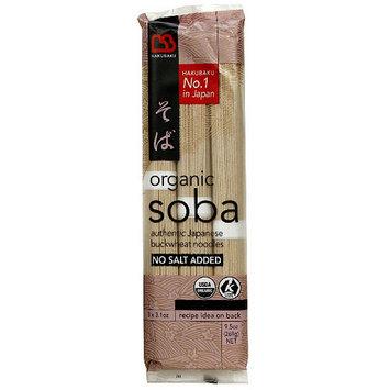 Hakubaku Soba Japanese Buckwheat Noodles, 9.5 oz, (Pack of 8)