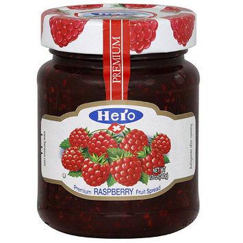 Hero Red Raspberry Premium Fruit Spread, (Pack of 8)