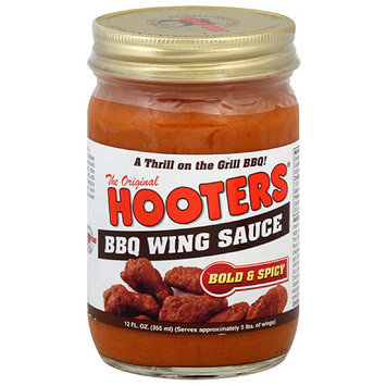 Hooters Bold & Spicy BBQ Wing Sauce, 12 fl oz, (Pack of 6)