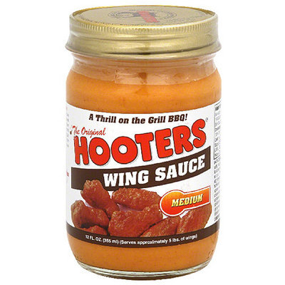 Hooters Medium Wing Sauce, 12 oz (Pack of 6)