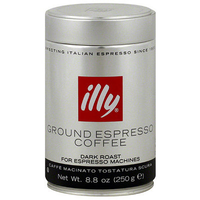 Illy Ground Espresso Coffee, 8.8 oz, (Pack of 6)