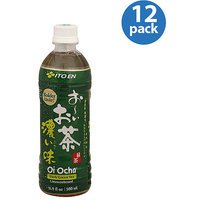 Ito En Oi Ocha Dark Green Unsweetened Tea, 16.9 oz, (Pack of 12)