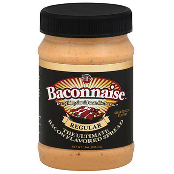 J & D'S Baconnaise Bacon Flavored Sandwich Spread, 15 fl oz, (Pack of 6)