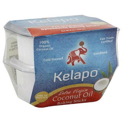 Kelapo Extra Virgin Coconut Oil Baking Sticks, 8 oz, (Pack of 6)