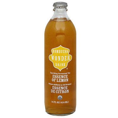 Kombucha Wonder Drink Essence of Lemon Sparkling Fermented Tea, 14 fl oz, (Pack of 12)