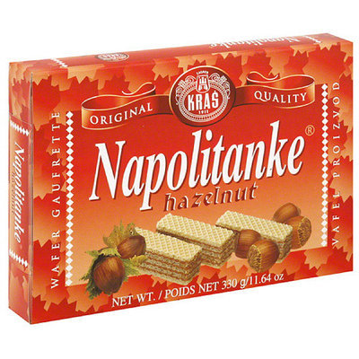 Kras Napolitanke Hazelnut Wafer Cookies, 11.64 oz, (Pack of 12)