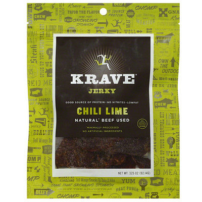 Krave Chili Lime Jerky, 3.25 oz, (Pack of 8)