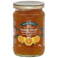 Mackays 3 Fruit Marmalade, 12 oz, (Pack of 6)