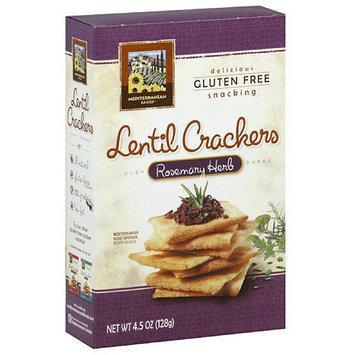 Mediterranean Snacks Rosemary Herb Lentil Crackers, 4.5 oz, (Pack of 6)