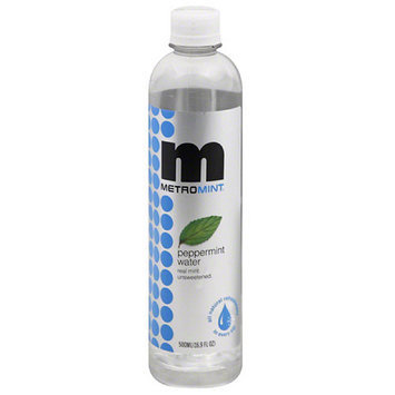 Metromint Peppermint Water, 16.9 fl oz, (Pack of 12)