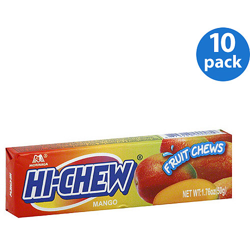 Morinaga HI-CHEW Mango Fruit Chews, 1.76 oz, (Pack of 10)
